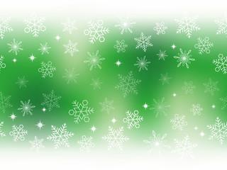 シームレスな雪の背景 グリーン