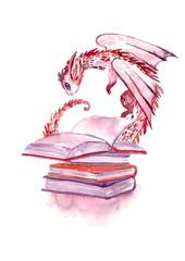 books and dragon
