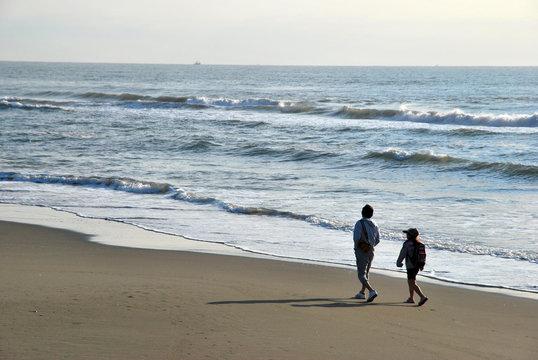 白子海岸 散歩2名