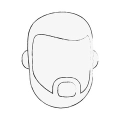 hipster man bearded avatar head icon image vector illustration design