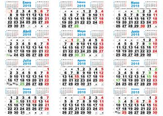 calendario santoral lunar 2018