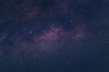 Milky way galaxy with stars and space dust in the universe filled