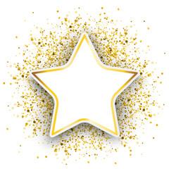 Star Golden Particles Confetti