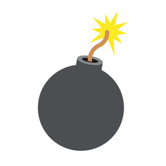 Round bomb explosive icon vector illustration graphic design