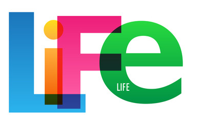 LIFE Vector Letters Icon
