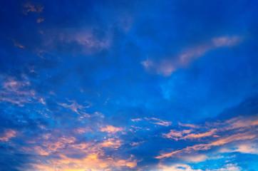 Beautiful evening sky.
