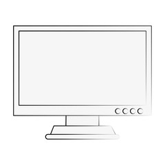 Computer screen monitor icon vector illustration graphic design