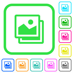 Pictures vivid colored flat icons icons