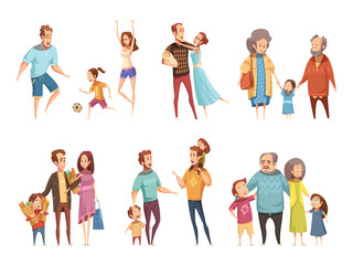Family Cartoon Set