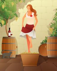 Wine Festival Illustration