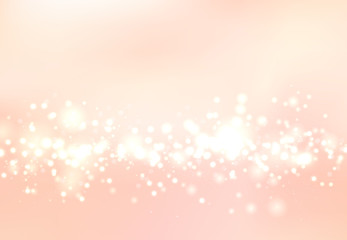 Abstract blurred soft focus bokeh of bright pink color background concept, copy space