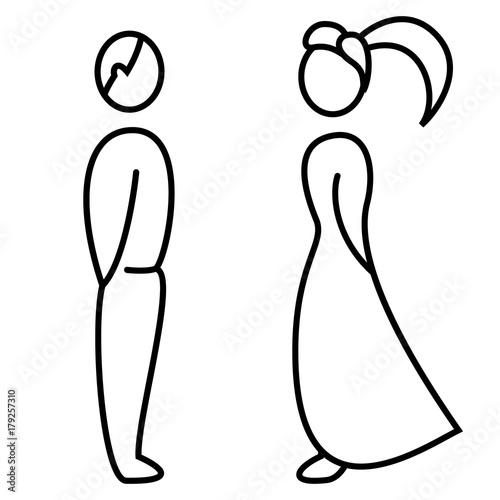 Mann Und Frau Hochzeit Toiletten Zeichen Stock Image And