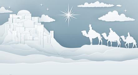 Wise Men Nativity Christmas Concept