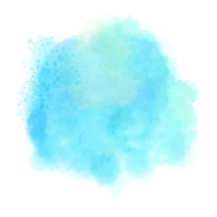 Blue watercolor hand drawn vector.
