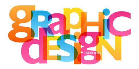 """""""GRAPHIC DESIGN"""" colourful letters icon"""