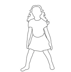 vector, sketch child dancing, isolated