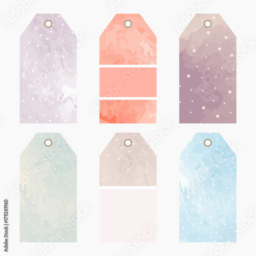 hand drawn watercolor creative tags universal shopping sales