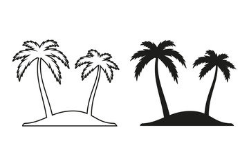 Palm tree vector icon.