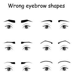 wrong eyebrows
