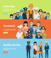 Labor Day, Teamwork and Quality Service Info Page