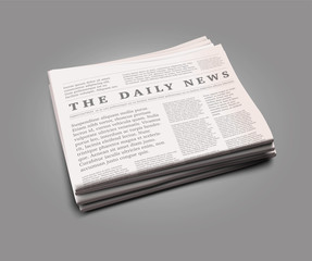 Vector realistic newspaper with empty space to add your own text and pictures.