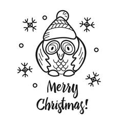 Christmas illustration hand drawn.