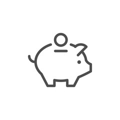 Money box line icon