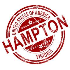 Hampton Virginia stamp with white background