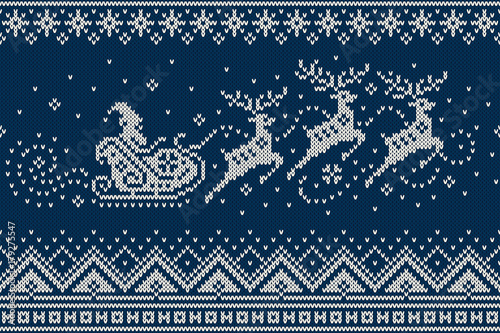 sleigh and reindeer pattern