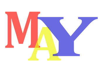 May with colorful letters