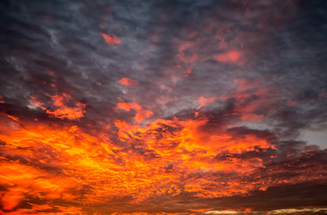 Sky with red clouds