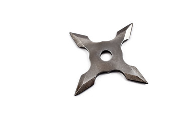 Ninja star stock images. Throwing Star on a white background