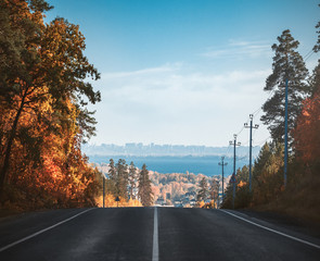 Road to the city. Samara. Russia.