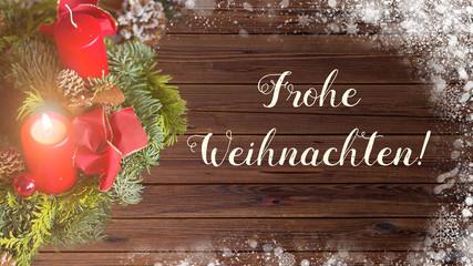 Weihnachtsgrußkarte mit Adventskranz