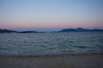 Abends, Strand, Mallorca, port de polenca, Spanien, Insel, Meer, Mittelmeer