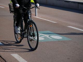 piste cyclable voie