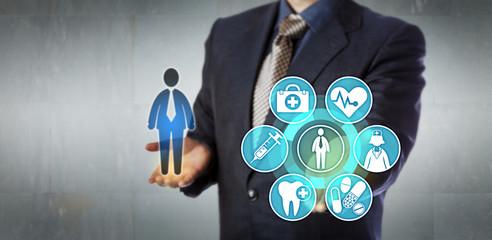 Insurance Administrator Presenting Monitoring App