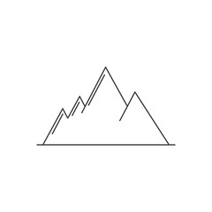 Mountain logo icon outline design vector illustration for your brand, company
