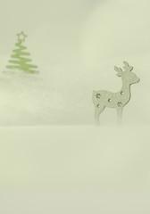 Weihnachtliches Motiv mit Holzfiguren - Platz für Text
