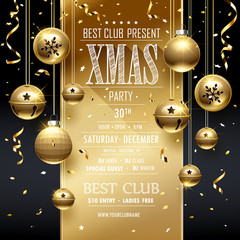 Christmas Party design Golden