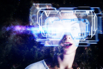 Cyberspace and technology concept
