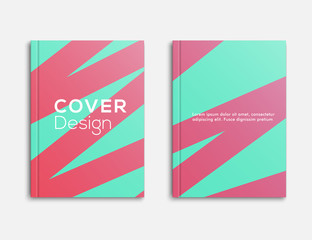 Abstract Design Business brochure, flyer and cover layout template flyer, geometric shapes and folding, vector illustrator