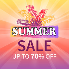 Summer Sale up to 70 off Colorful Illustration