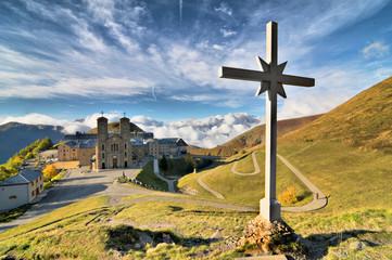 Fototapeta The sanctuary of Our Lady of La Salette