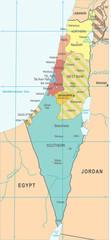 Israel Map - Vector Illustration