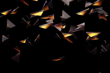 Glass piece pattern background