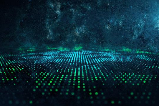 Digital space liquid backdrop