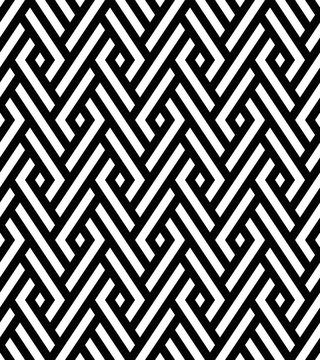 Vector seamless pattern. Modern stylish texture. Monochrome geometric pattern with rhombuses