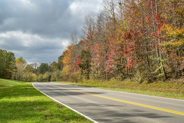 Natchez Trace Parkway in fall colors