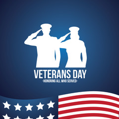 Veterans Day illustration. Recognizing veterans on their special day. EPS 10 vector.